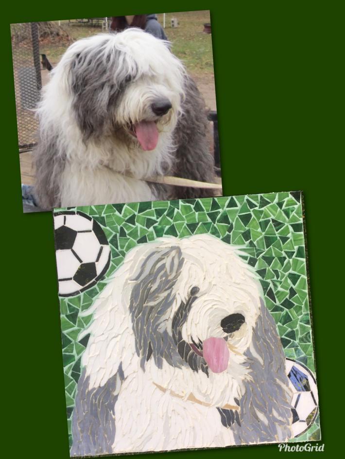 Custom dog mosaic