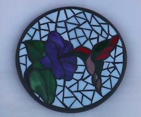 Custom Mosaic Hummingbird Stepping Stone