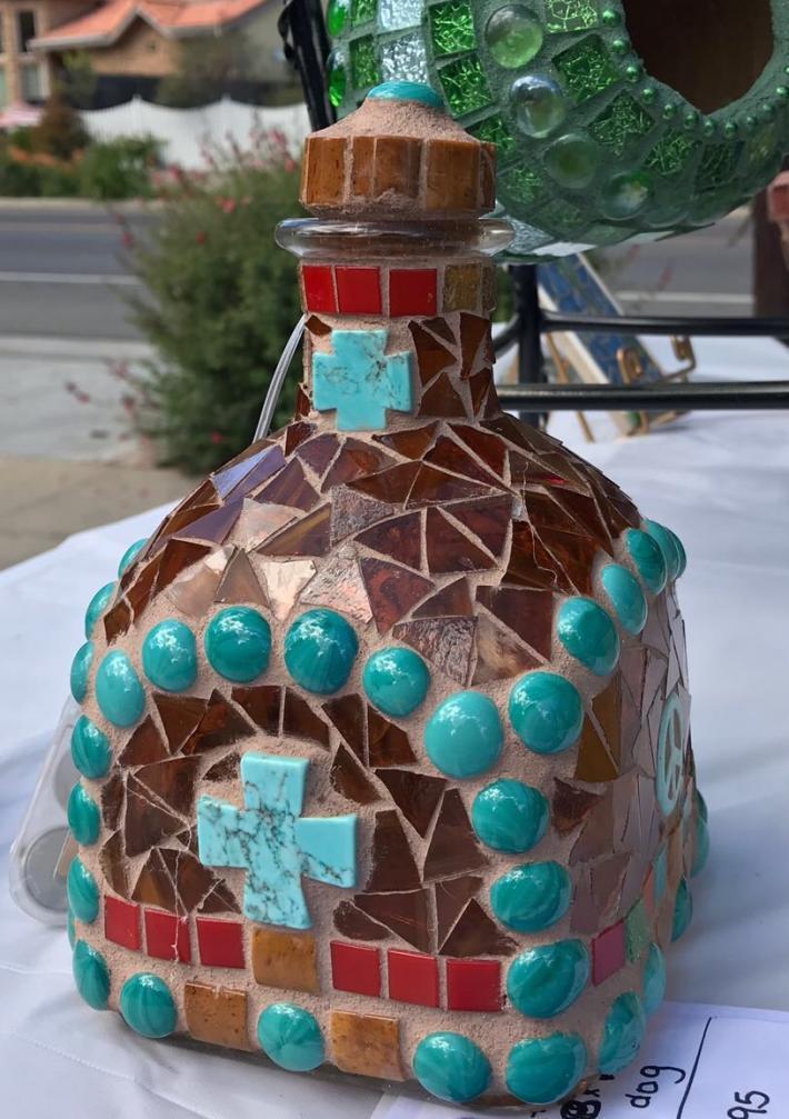 Mosaic Patron Tequila Bottle