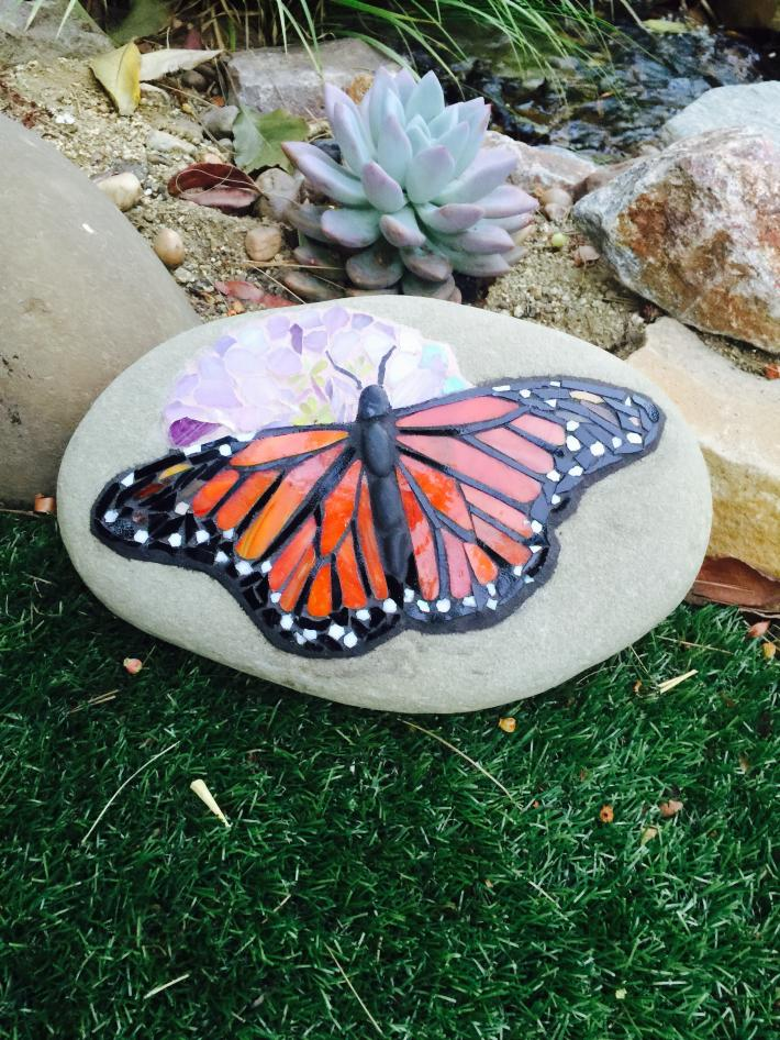 Butterfly Mosaic Rock