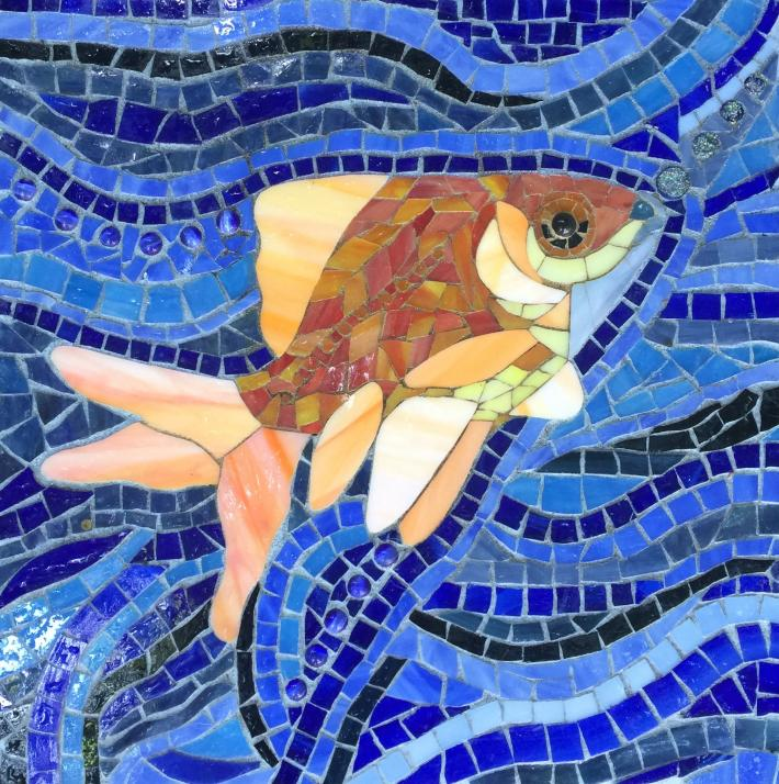 Mosaic Fish Stepping Stone
