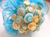 Teal Button Bouquet