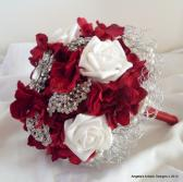 Wedding Brooch Bouquet Red