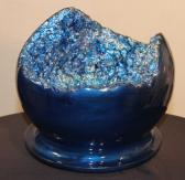 Cobalt Blue Faux Geode Bowl