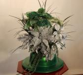 Ladies Green Holiday Hat