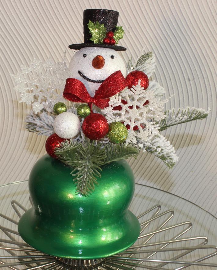 Small Bright Green Christmas Hat Vase