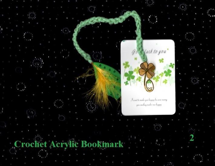 Crochet Little Swan Feather Book Mark 2