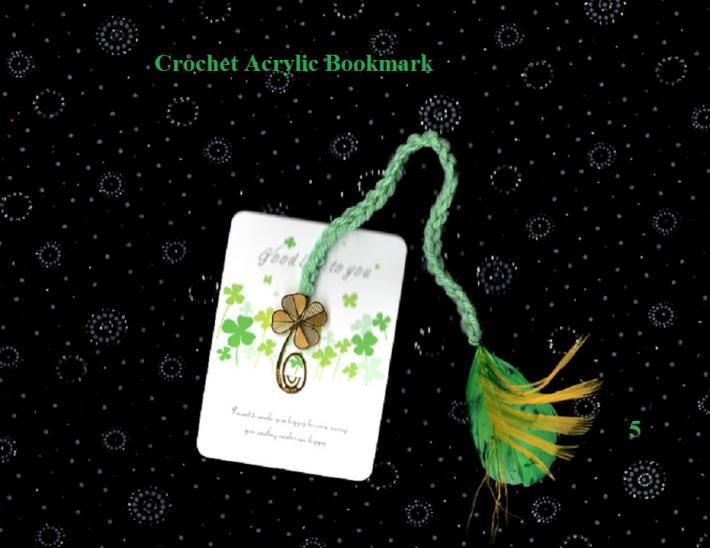 Crochet Little Swan Feather Book Mark 5