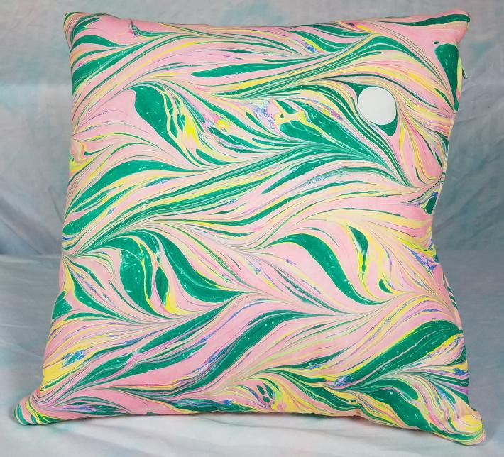 Marbled Pillow Double Sided