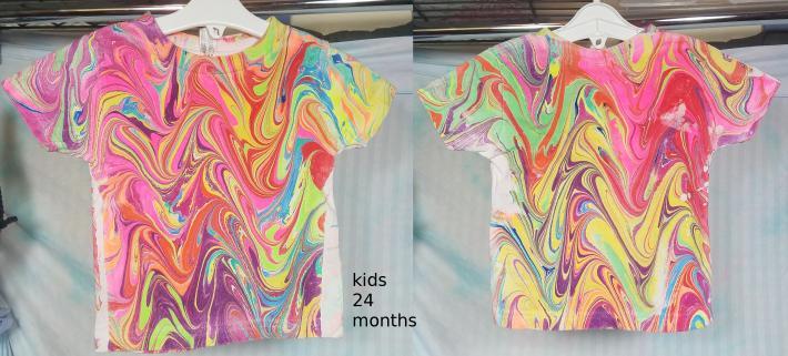 Marbled T shirt kids 24 months