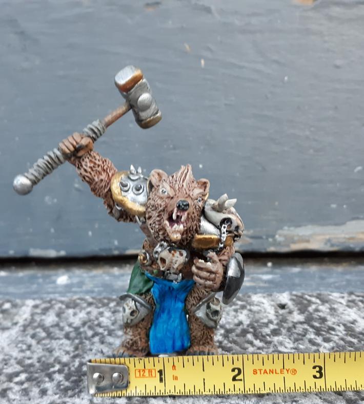 Snarling Fantasy beast figure