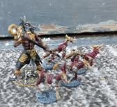 Handmade anubis figure with undead jackals
