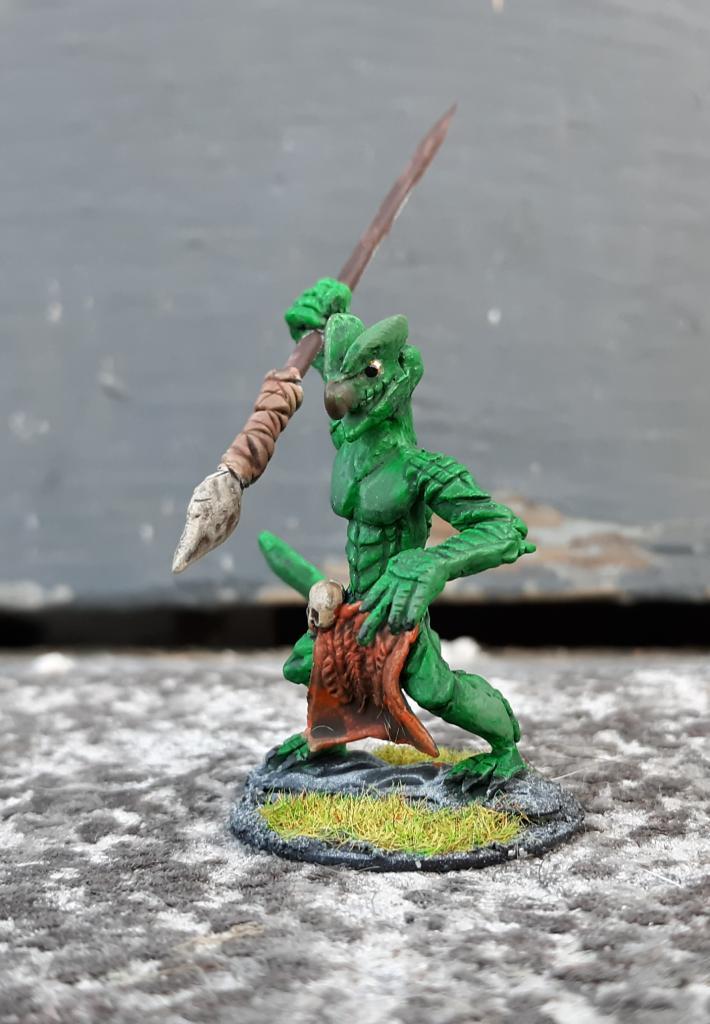 Lizardman fantasy miniature art