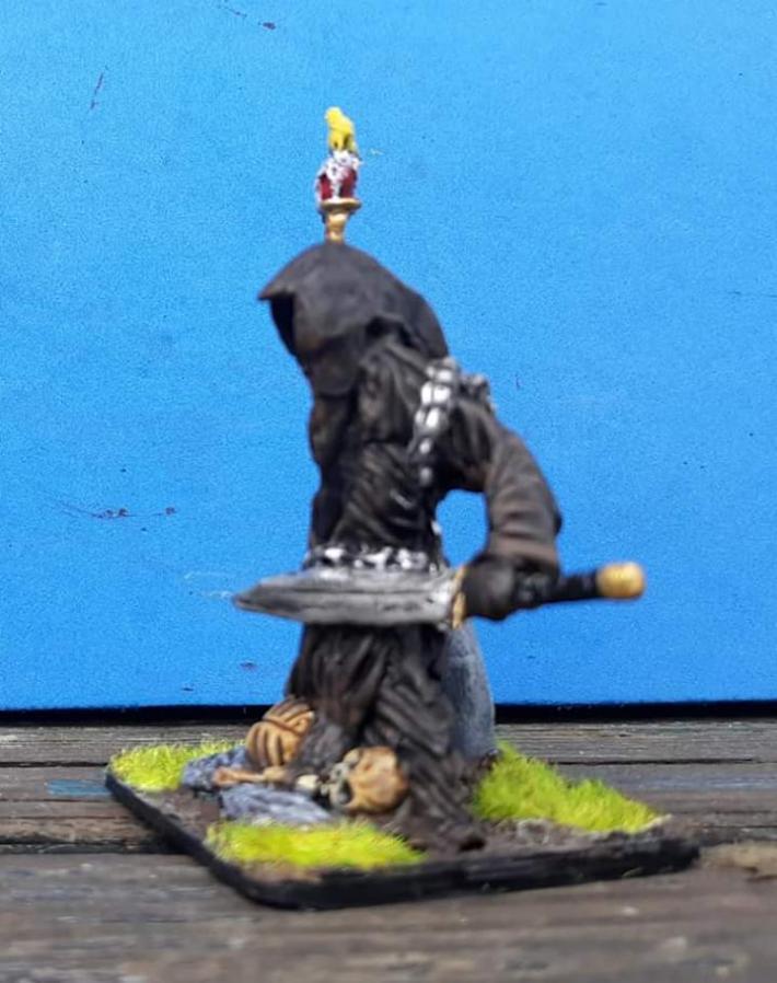 Miniature fantasy wraith sculpture