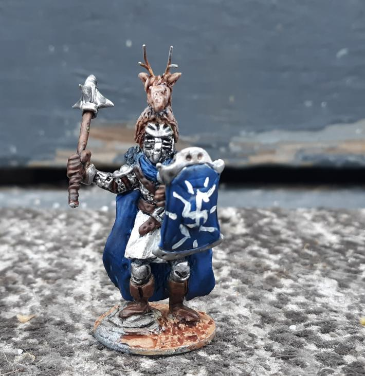 Miniature fantasy knight sculpture