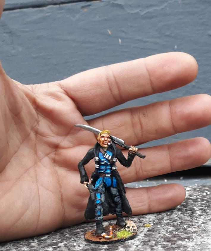 Miniature scifi themed action figure