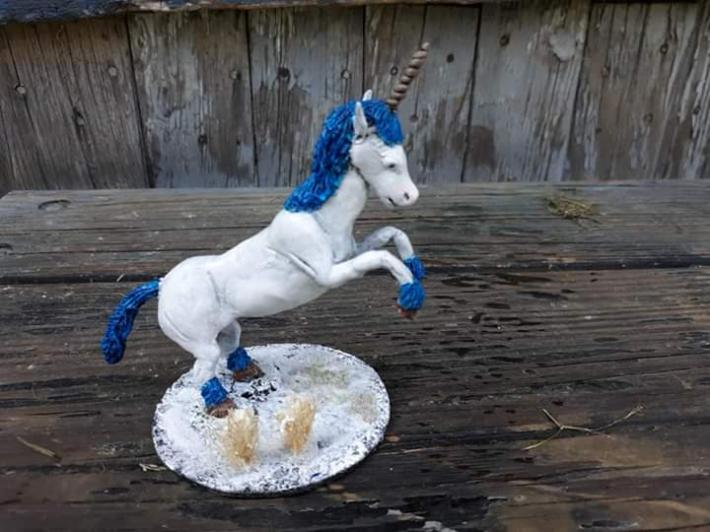Made to order colorful unicorn figure