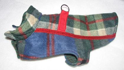 Blue Plaid Pooch Coats