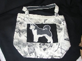 Grey Husky Breed Specific Tote Bag