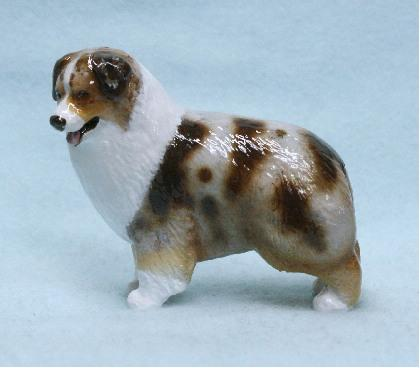 Hevener Collectible Australian Shepherd Dog Figurine