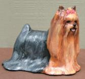 Hevener CollectibleYorkshore Terrier Dog Figurine
