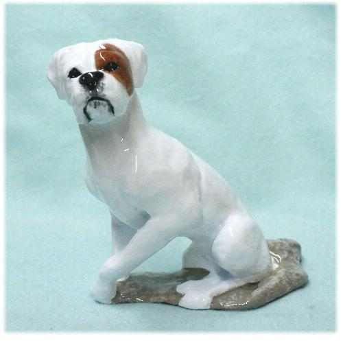 Hevener Boxer Dog Natural Ears Figurine