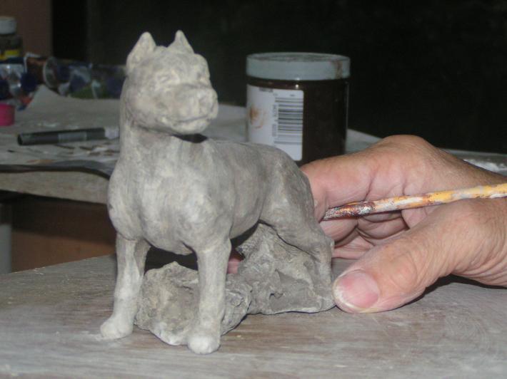 Hevener American Staffordshire Dog Figurine