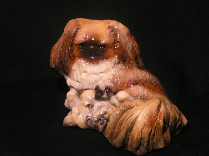 Pekingese Dog Figurine titled With Love