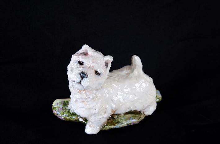 Ron Hevener Westie Dog Figurine