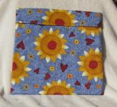Microwave Potato Bag with Sunflowers and Hearts