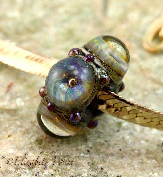 Sea Galaxy 1364 betsybeads Large Hole Handmade Lampwork Beads SRA