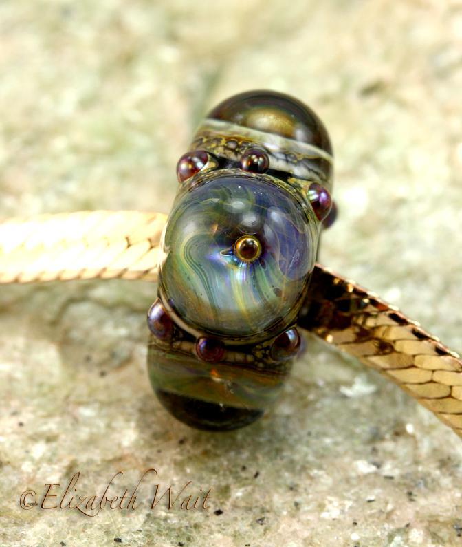 Sea Galaxy 1364 betsybeads Large Hole Handmade Lampwork Beads SRA
