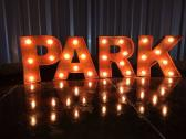 Rustic Lighted Marquee Letters A to Z