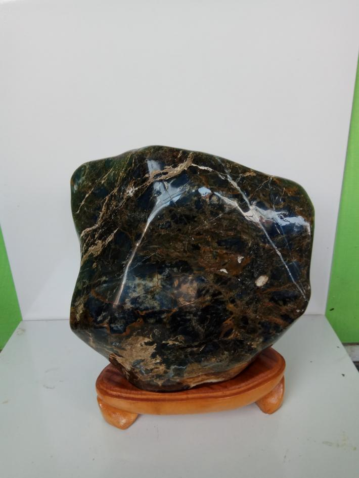 Blue opal stone craft polished for display and healing6300 gr