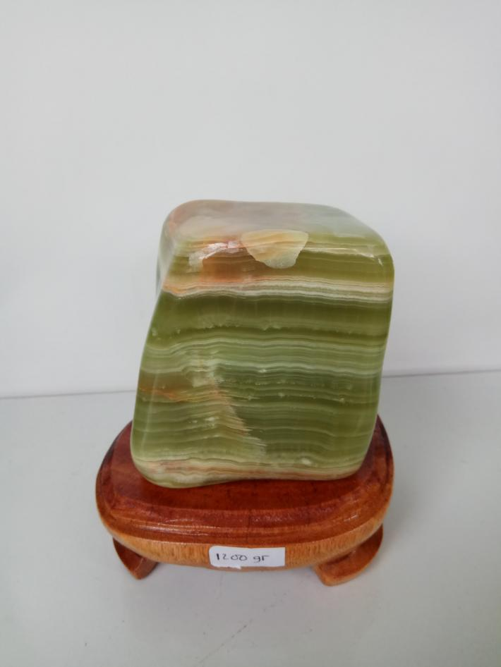 Green layer agate stone craft polished for display 1200 gr