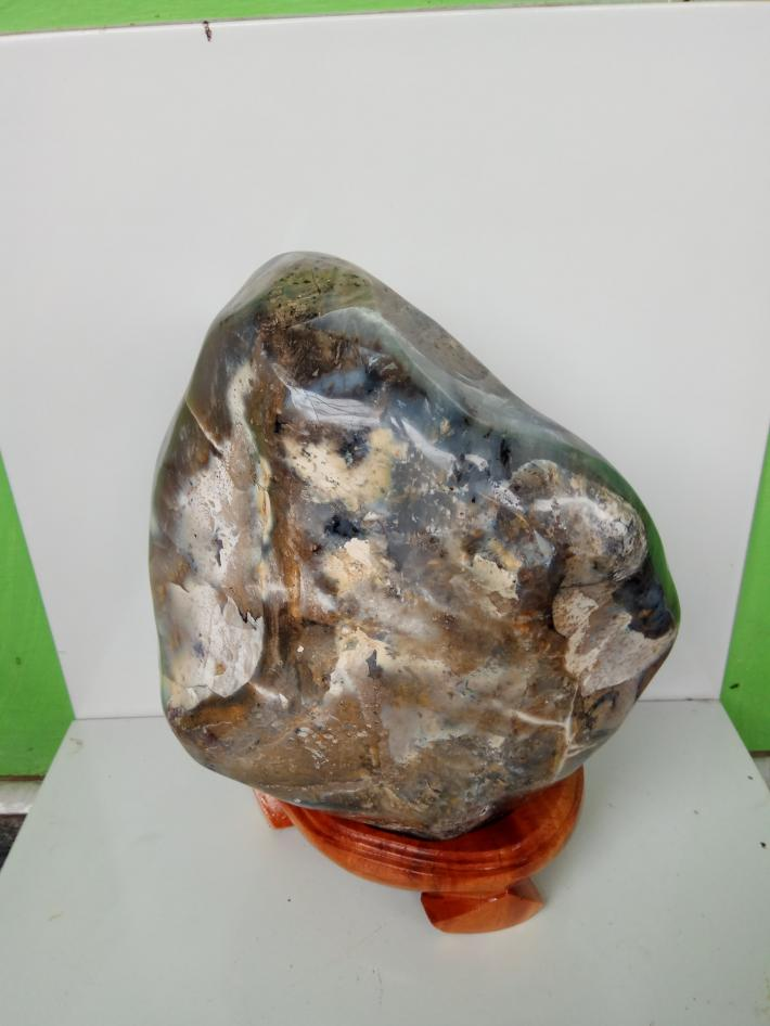 Dendrite stone craft polished for display 9400 gr