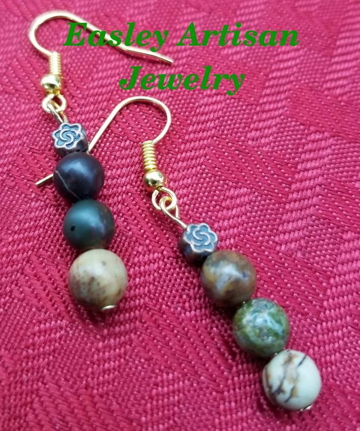 Earth tone bead earrings