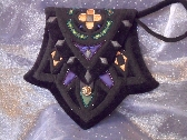 Black Velvet and Pearls Purse