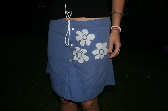 Upcycled Reverse Applique Skirt