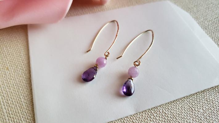 14kt Gold Filled Amethyst Earrings