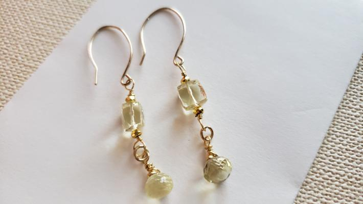 14kt Gold Filled Lemon Drop Earrings