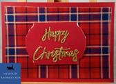 Red Tartan Happy Christmas Card