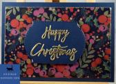 Navy Berries Happy Christmas Card
