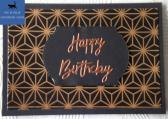Black and Copper Stars Male Birthday Card
