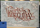 Grey and Copper Marble Male Birthday Card