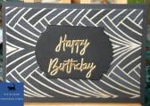 Black Art Deco Birthday Card