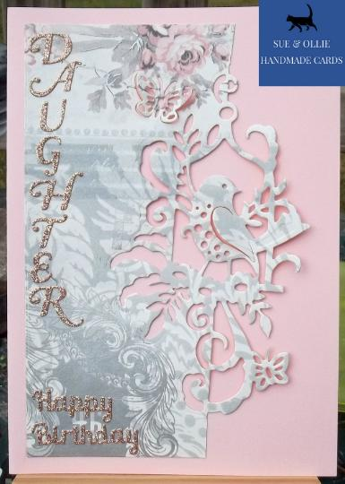 Pink Bird Daughter Birthday Card
