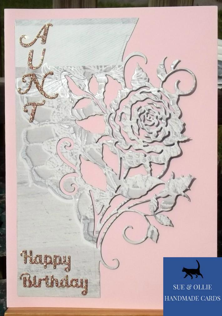 Pink Rose Aunt Birthday Card