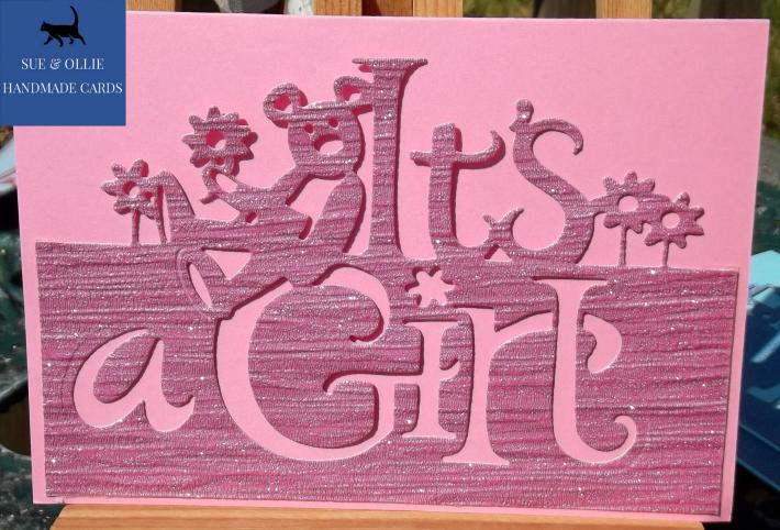 Pink Its a Girl Baby Card