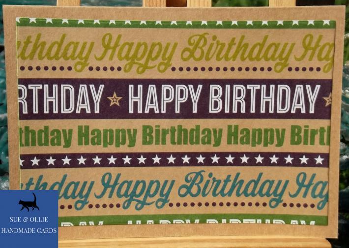Brown Happy Birthday Card